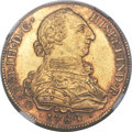 Colombia, Colombia: Charles III gold 8 Escudos 1784 P-SF MS63 NGC,...