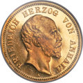 German States:Anhalt-Dessau, German States: Anhalt-Dessau. Friedrich I gold Proof 20 Mark 1901-APR65 Cameo NGC,...