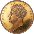 Great Britain, Great Britain: George IV gold Proof 5 Pound 1826 PR64 Cameo NGC,...