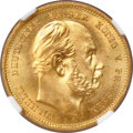 German States:Prussia, German States: Prussia. Wilhelm I gold 10 Mark 1888-A MS66 NGC,...