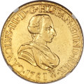 Mexico, Mexico: Charles III gold 8 Escudos 1761/0 Mo-MM VF Details(Plugged, Polished, Bent) NGC,...