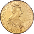 Mexico, Mexico: Charles III gold 8 Escudos 1760 Mo-MM AU Details (ObverseDamage) NGC,...