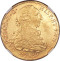 Mexico, Mexico: Charles III gold 8 Escudos 1782 Mo-FF AU Details (ObverseDamage) NGC,...