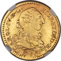Mexico, Mexico: Charles IV gold Escudo 1790 Mo-FM XF Details (Plugged,Cleaned) NGC,...