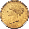 India:British India, India: British India. East India Company - Victoria gold Mohur 1841.(-C) MS62 NGC,...