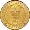 Australia, Australia: South Australia. British Colony - Victoria gold AdelaidePound 1852 MS62 NGC,...