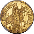 German States:Saxony, German States: Saxony. Johann Georg I gold Ducat 1619 MS64 NGC,...