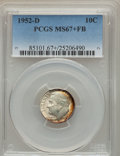 Roosevelt Dimes, 1952-D 10C MS67+ Full Bands PCGS....