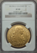 Colombia, Colombia: Ferdinand VII gold 8 Escudos 1812 NR-JF XF40 NGC,...
