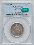 Seated Quarters: , 1855-O 25C Arrows VF20 PCGS. CAC. PCGS Population (4/30). NGC Census: (2/27). Mintage: 176,000. Numismedia Wsl. Price for p...
