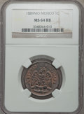 Mexico, Mexico: Republic Centavo 1889-Mo MS64 Red and Brown NGC,...