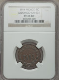 Mexico, Mexico: Revolutionary. Durango 5 Centavos 1914 VF35 Brown NGC,...