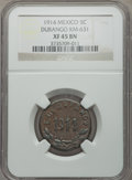 Mexico, Mexico: Revolutionary. Durango 5 Centavos 1914 XF45 Brown NGC,...