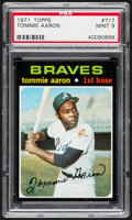 Baseball Cards:Singles (1970-Now), 1971 Topps Tommie Aaron #717 PSA Mint 9....