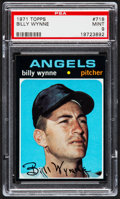 Baseball Cards:Singles (1970-Now), 1971 Topps Billy Wynne #718 PSA Mint 9 - Pop Two, None Higher....