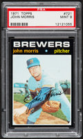 Baseball Cards:Singles (1970-Now), 1971 Topps John Morris #721 PSA Mint 9....