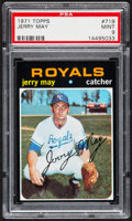 Baseball Cards:Singles (1970-Now), 1971 Topps Jerry May #719 PSA Mint 9....