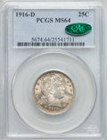 Barber Quarters: , 1916-D 25C MS64 PCGS. CAC. PCGS Population (500/519). NGC Census: (399/235). Mintage: 6,540,800. Numismedia Wsl. Price for ...