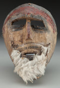American Indian Art:Wood Sculpture, Moor Mask, Mexican . 20th c....