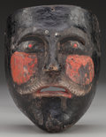 American Indian Art:Wood Sculpture, Negrito or Moor Mask, Mexican. 20th c....