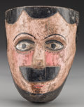 American Indian Art:Wood Sculpture, Spaniard or Charro Mask, Mexican. 20th c....