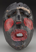 American Indian Art:Wood Sculpture, Negrito / Wrestler Mask, Mexican or Guatemalan. 20th c....