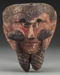 American Indian Art:Wood Sculpture, Spaniard or Moor Mask, Probably Mexican . 20th c....