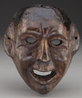 American Indian Art:Wood Sculpture, Moor or Devil (Diablo) Mask, Guatemalan . 20th c....