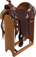 Movie/TV Memorabilia:Memorabilia, A Beautiful Western Presentation Saddle by J.M. Capriola....(Total: 6 Items)