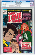 Bronze Age (1970-1979):Romance, Our Love Story #5 (Marvel, 1970) CGC VF/NM 9.0 Off-white to whitepages....