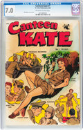 Golden Age (1938-1955):War, Canteen Kate #1 (St. John, 1952) CGC FN/VF 7.0 Off-white to whitepages....