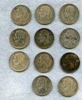 Belgium, Belgium: Lot of Eleven silver Crowns,... (Total: 11 coins)