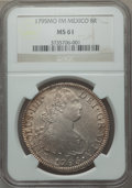 Mexico, Mexico: Charles IV 8 Reales 1795 Mo-FM MS61 NGC,...