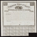Confederate Notes:Group Lots, Ball 2 Cr. 5A $50 1861 Bond Fine.. ...