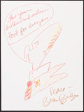 Illustration, Beau Bridges, Actor. Doodle for Hunger. Crayon on Paper. 12x 9 inches (30.5 x 22.9 cm). ...