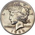 1922 $1 High Relief Peace Dollar, Judd-2018, R.7 -- Polished -- PCGS Genuine. Specimen. VF Details....(PCGS# 542801)
