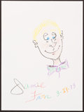Illustration, Jamie Farr, Actor. Doodle for Hunger. Crayon and Pencil onPaper. 12 x 9 inches (30.5 x 22.9 cm). ...