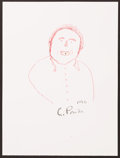 Illustration, Charley Pride, Musician. Doodle for Hunger. Crayon on Paper.12 x 9 inches (30.5 x 22.9 cm). ...