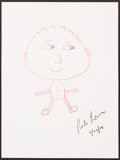 Illustration, Rob Reiner. Doodle For Hunger. Crayon on Paper . 11 x 8-1/2inches (27.9 x 21.6 cm). ...