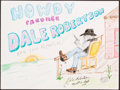 Illustration, Dale Robertson, Actor. Doodle for Hunger. Crayon, Pencil andInk on Paper. 9 x 12 inches (22.9 x 30.5 cm). ...