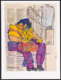 Illustration, Hank Virgona, Artist. Doodle for Hunger. Mixed Media. 12 x 9inches (30.5 x 22.9 cm). ...