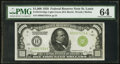 Small Size:Federal Reserve Notes, Fr. 2210-H $1,000 1928 Light Green Seal Federal Reserve Note. PMG Choice Uncirculated 64.. ...