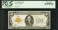Small Size:Gold Certificates, Fr. 2405 $100 1928 Gold Certificate. PCGS Choice New 63PPQ.. ...