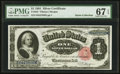 Large Size:Silver Certificates, Fr. 223 $1 1891 Silver Certificate PMG Superb Gem Uncirculated 67EPQ.. ...
