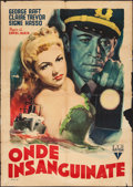 "Movie Posters:Crime, Johnny Angel (RKO, 1948). Italian 2 - Foglio (39.25"" X 55"").Crime.. ..."