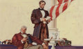 Mainstream Illustration, Dean Cornwell (American, 1892-1960). Lincoln's First InauguralAddress, preliminary, 1937. Pencil, gouache, and watercol...