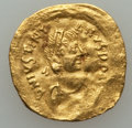 Ancients:Byzantine, Ancients: Justinian I (AD 527-565). AV tremissis (1.39 gm)....