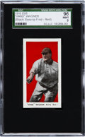 "Baseball Cards:Singles (Pre-1930), 1910 E98 ""Set of 30"" Honus Wagner, Red Background SGC 96 Mint 9from ""The Black Swamp Find."" ..."