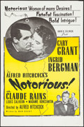 "Movie Posters:Hitchcock, Notorious (Selznick, R-1960s). One Sheet (27"" X 41""). Hitchcock....."