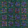 Texas:Early Texas Art - Modernists, J. J. MCVICKER (1911-2004). Tapestry of Squares. Acryliccollage on canvas. 24 x 24 inches (61.0 x 61.0 cm). Signed and ...